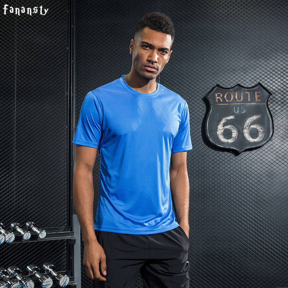 Sport T-shirt Men Breathable Running Shirt Jogging Loose Gym T shirt Quick Dry Comfortable Men Fitness Tops 2017 New Arrival ...