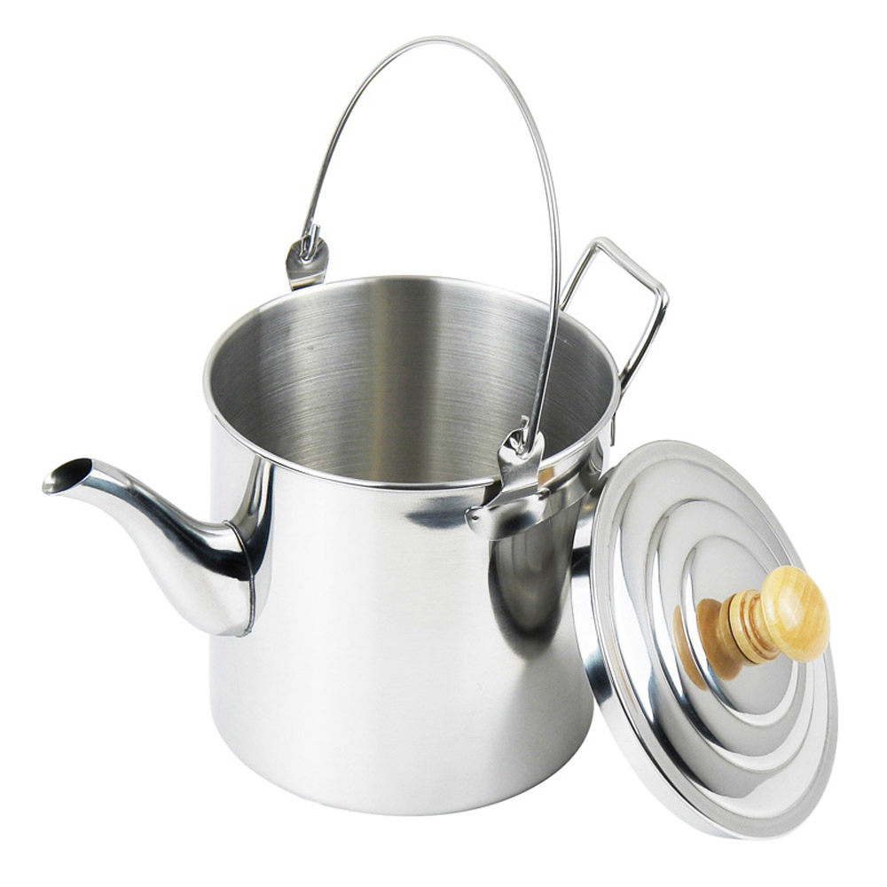 Portable 3000ML Outdoor Water Kettle Camping Hiking Stainless Steel Tea Kettle Coffee Pot With Handle for Backpacking