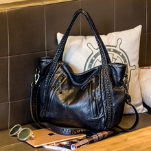 2018 Large Soft Leather Bag Women Handbags Ladies Crossbody Bags For Women Shoulder Bags Female Big Tote Famous Brand Bag. cow leather bags handbags women famous brands big women crossbody bag tote designer shoulder bag ladies large bolsos mujer white