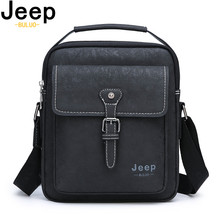 JEEP BULUO Big Brand Mans Tote Casual Business Bag New Man Handbag Messenger Shoulder Bags Frosted Leather Male