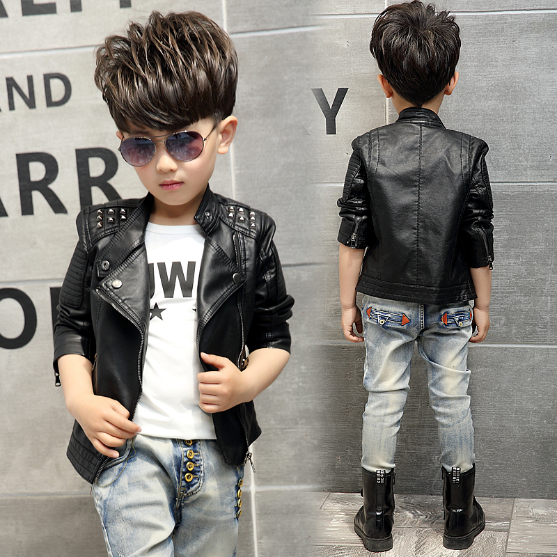 Teenager Girl Boys Leather Jacket Boys Casual Black Solid Children Outerwear Kids Girls Coats Winter Leather Jackets 2017 New 2017 fashion teenager motorcycle coats boys leather jackets patchwork children outerwear letter printed boy faux leather jacket
