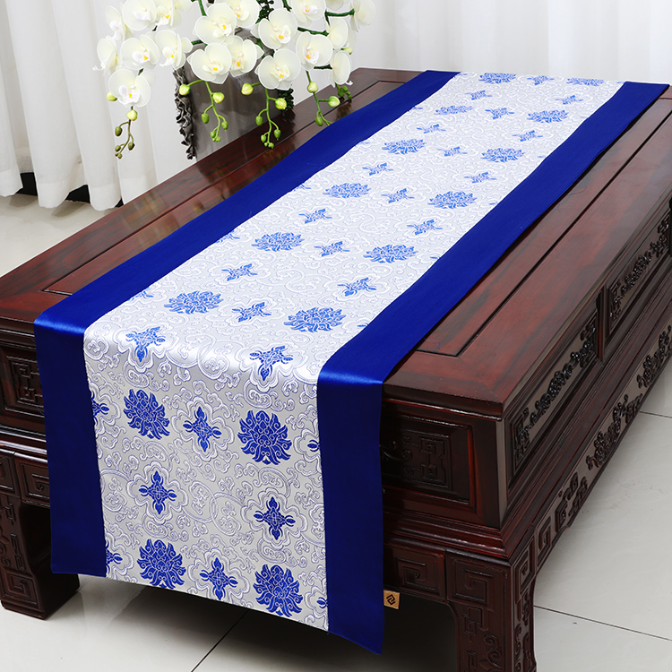 Widen Lengthen Patchwork Table Runner Dining Table Protective Mats Chinese  Style Silk Brocade Coffee Table Cloth Bed Runners