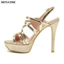 NEMAONE Women sandals 2019 New 12cm High-heeled shoes Sexy Fish Mouth with T-Taiwan Catwalk Models Show Car Show Female Sandals
