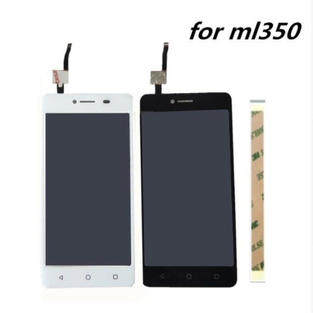 5.0 بوصة ل DEXP Ixion mL350 كامل شاشة الكريستال السائل لوحة محول الأرقام بشاشة تعمل بلمس زجاج الجمعية مع استبدال الإطار ل هاتف محمول
