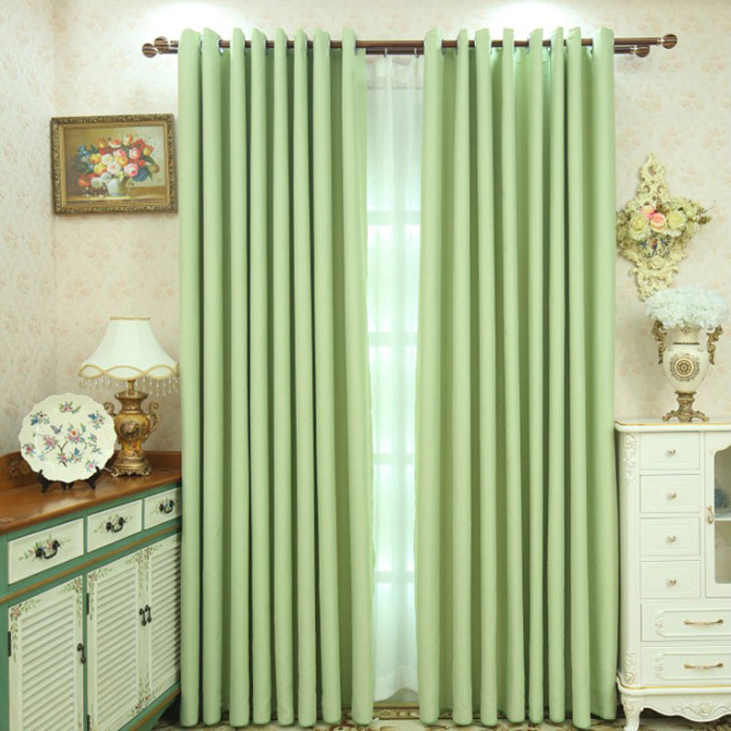 Children Room Divider Kitchen Curtains Solid Color Window Care Retaining Ring Printing And Dyeing Short Window Single Panel 109