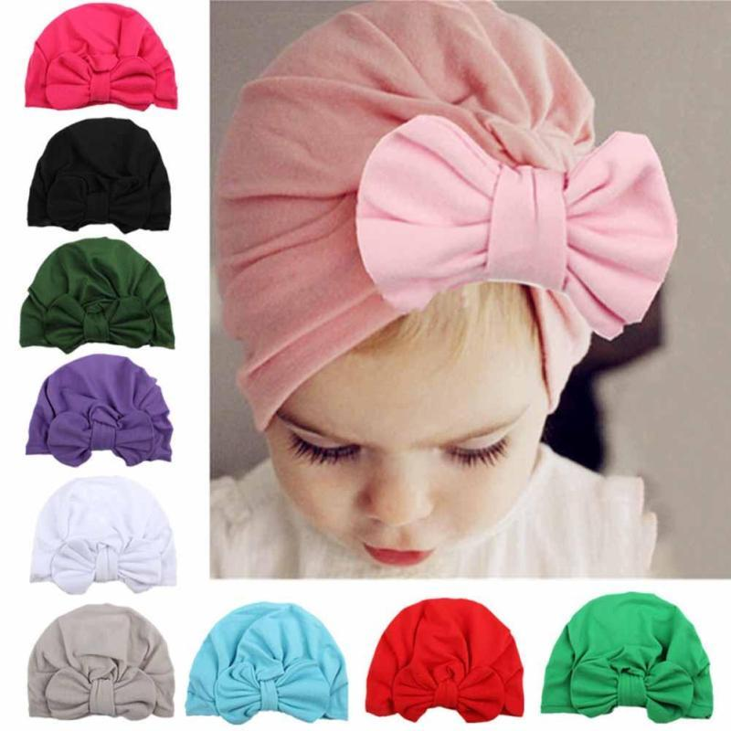 Baby Hat bowknot Baby Girls Hats colorful Baby Girls Caps Children's Spring Autumn Hats For Girls photo props Accessories D3 baby hats