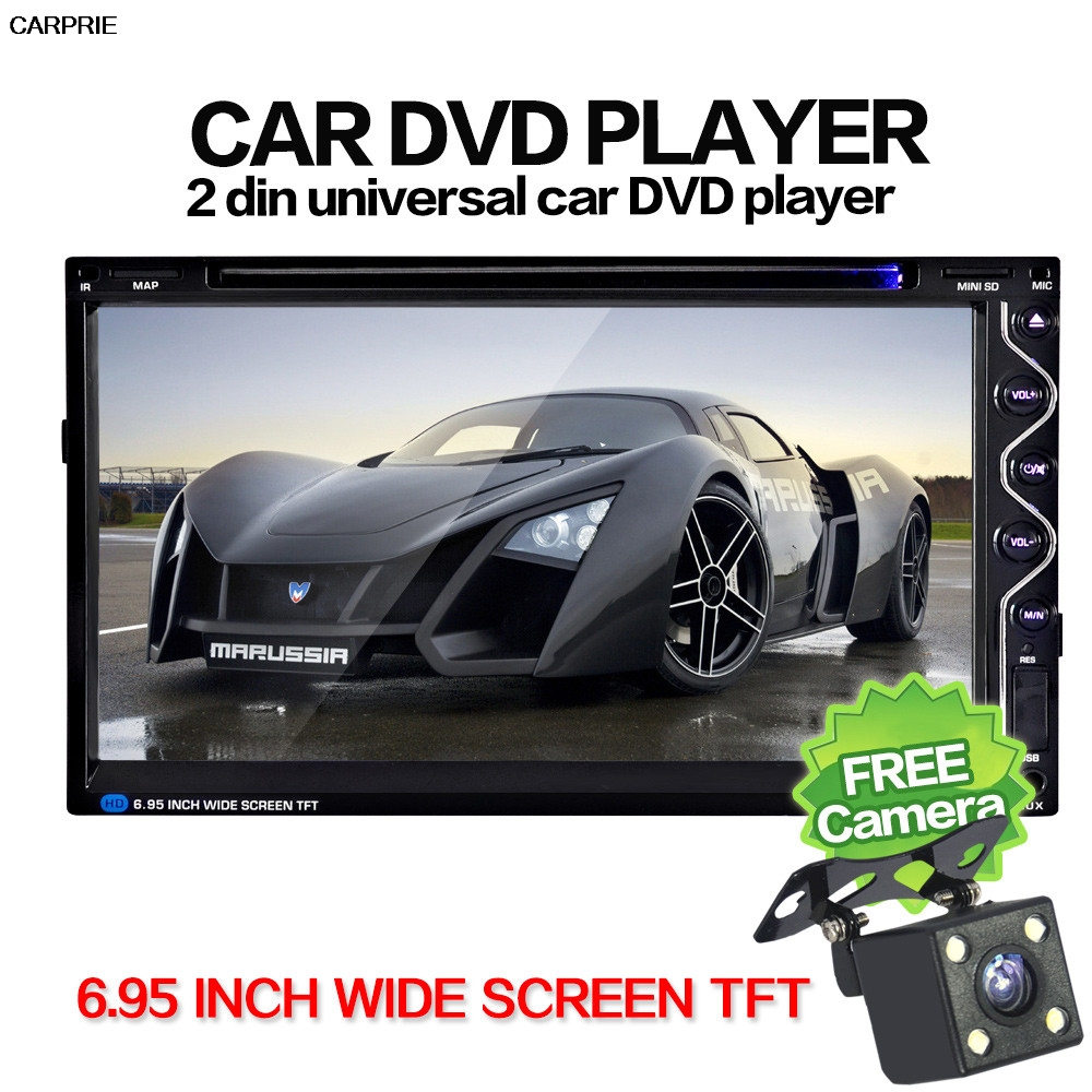 CARPRIE 7 Double 2DIN touch car radio car stereo android CD DVD Player Bluetooth USB SD AM FM TV Radio Camera
