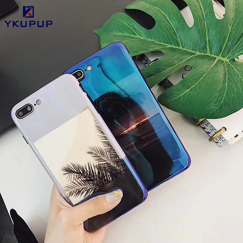 YKUPUP <font><b>Blu-ray</b></font> Landscape Coconut <font><b>trees</b></font> <font><b>sea</b></font> phone cases for iphone 6s case for iphone x 6 6s 7 8 plus cover coque fundas soft tpu