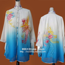 Customize Chinese Tai chi uniform kungfu clothing Martial arts suit taiji performance shawl embroidered for women children girl