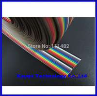 Free Shipping 40 Way Dupont Wire Flat Color Rainbow Ribbon Cable 2 54mm 1M 3 2ft