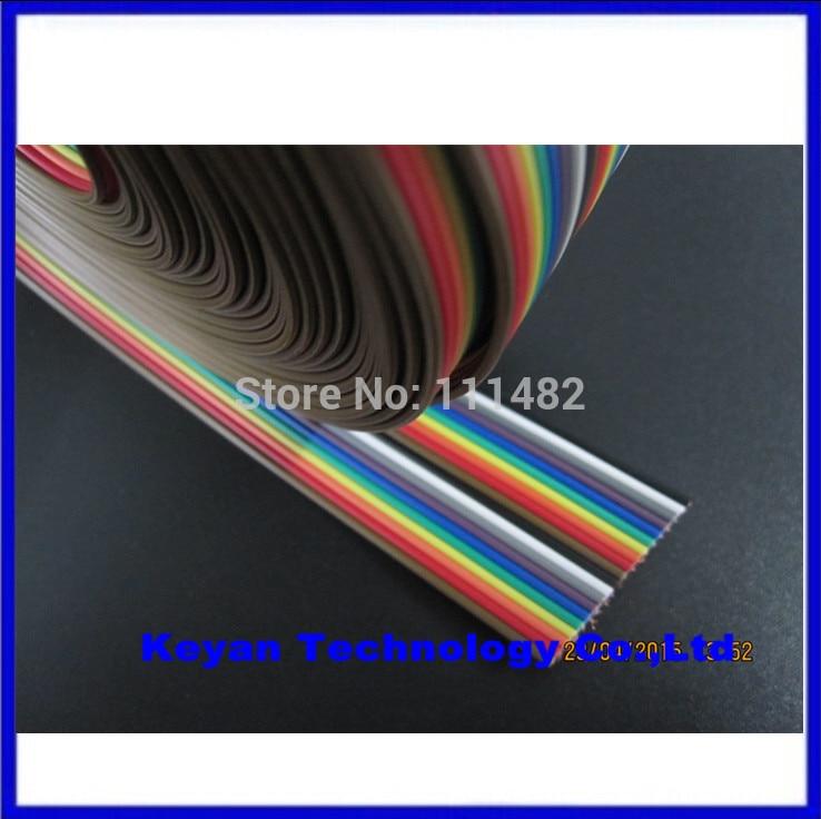 40 weg Dupont Draht Flache Farbe Regenbogen Band Kabel 2,54mm 1 mt ...