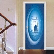 Beautiful Door Eid Al-Fitr Decorations - Eid-Mubarak-Door-Decor-Stickers-Artistic-Wall-Blue-Door-Stickers-For-Kids-Rooms-Removable-Self-Adhesive  Gallery_273113 .jpg