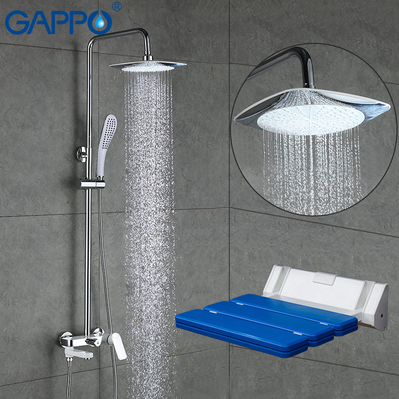 GAPPO Bathtub Faucets bath tub faucet bathroom relax chair Wall Mounted Shower Seats shower Stool toilet bathroom folding seat shower stool shower wall chair stool old people anti skid toilet stool bath wall chair