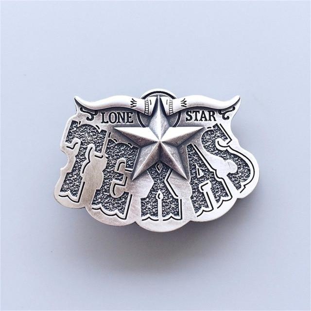 New Vintage Silver Plated Western Star Cowboy Belt Buckle Gurtelschnalle  Boucle de ceinture ccbdf7aa288