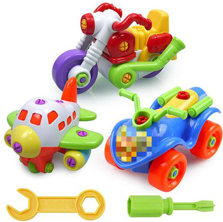 17 Kinds Colorful PVC Bolts And Nuts Assembled Toy Car DIY Car Model Handmade Educational Toys For Children Gift