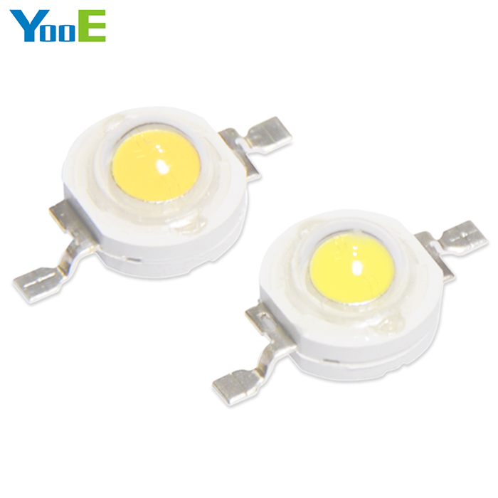 YooE 50Pcs/lots DIY High Power LED Spotlight Bulb Downlight 1W light chip Diodes SMD LED lamps smd diodes set for diy project black 180 pcs