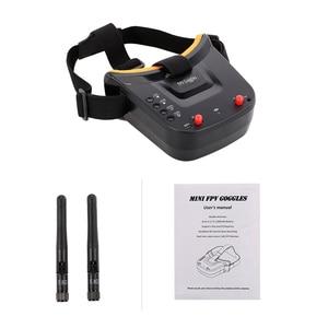 Image 5 - 5,8G 40CH Dual Antennen FPV Brille Monitor Video Gläser Headset HD Mit 5,8G 25mW sender fpv kamera für Racing Drone