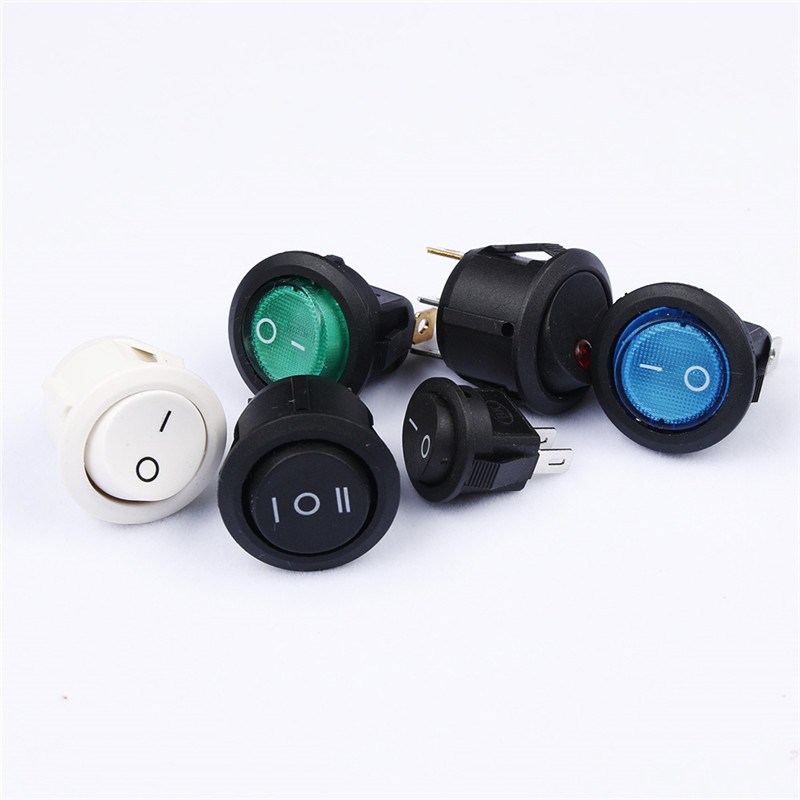 New 12V White Round Rocker Toggle Switch Car Truck RV Boat ATV Home
