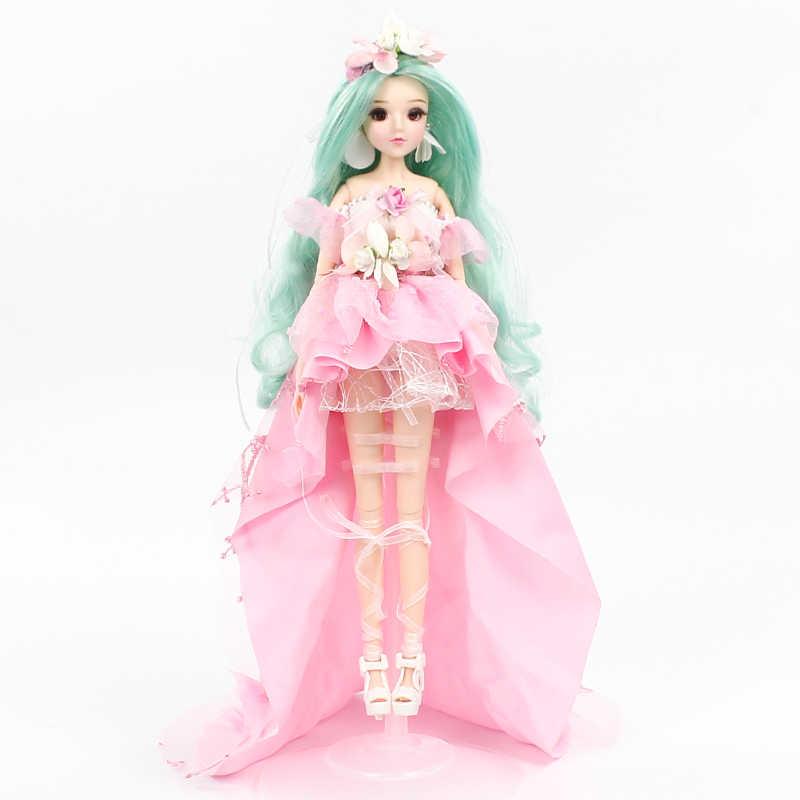 1/6 BJD MMGirl 12 Konstellationen Serie Virgo Faerie 14 Joint Körper mit Rosa Blume Kleid Schuhe und Puppe Stehen
