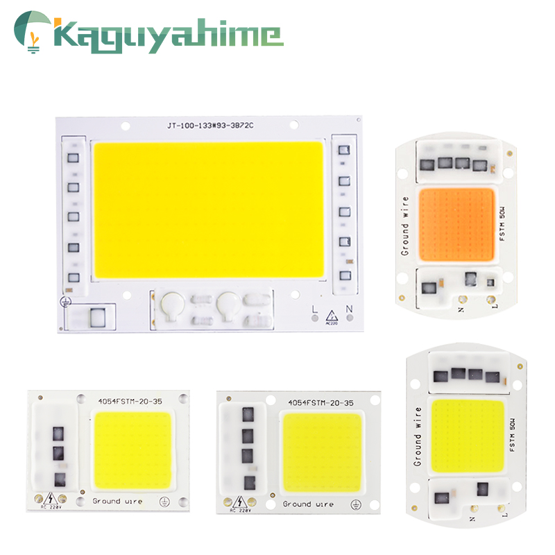Kaguyahime 10Pcs LED COB Chip 220V 20W 30W 50W Integrated Chip Replacement DIY Spotlight Bulb No Drive For Floodlight Grow Lamp