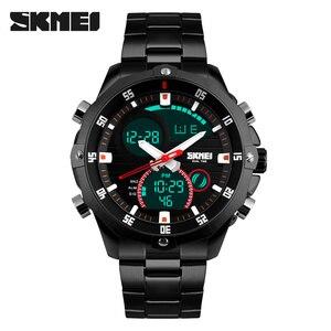 Image 2 - สุดหรูแบรนด์ SKMEI ผู้ชายนาฬิกาควอตซ์ Analog Digital LED กองทัพทหารกีฬานาฬิกาชาย Relogios Masculinos