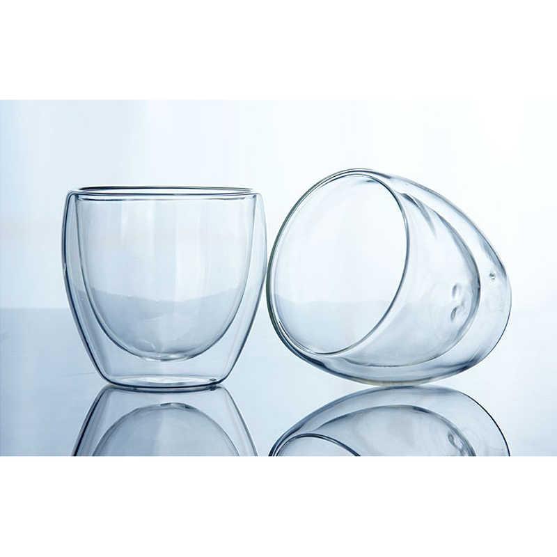 150-450 Ml Double Wall Cup Coffee Kaca Teh Mug Espresso Cup Anggur Bir