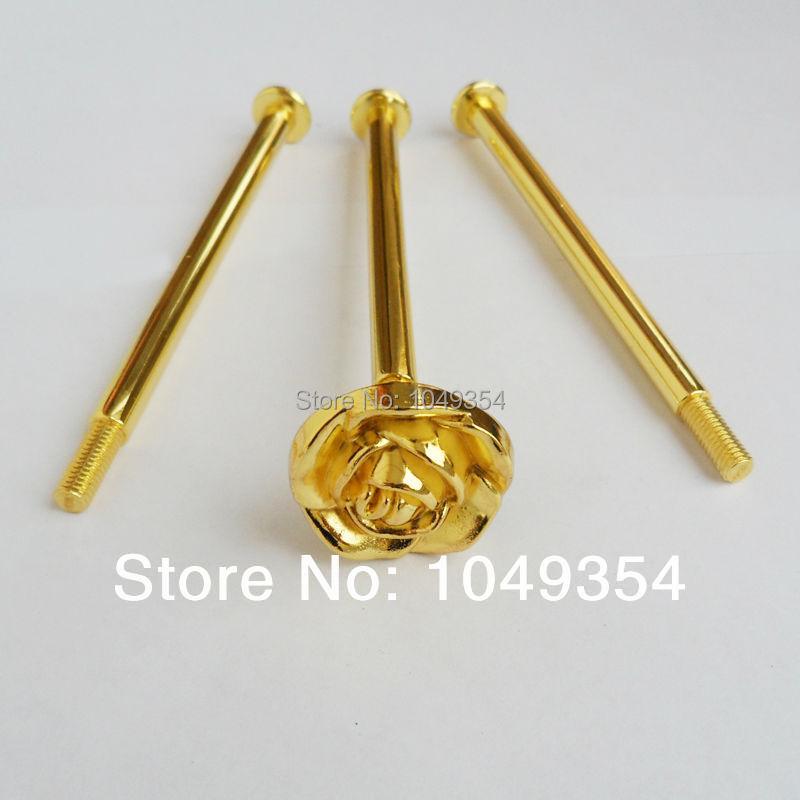 velkoobchod Nová kolekce růže 3 vrstvy zlata kolokační styl dort stojan zpracování / příslušenství / kuchyňské vybavení domácí výzdoba