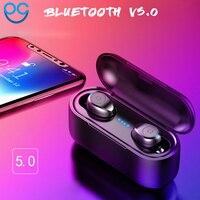 Новый Беспроводной Спорт Bluetooth F9 Беспроводной бинауральные сверхмалых мини невидимый 5,0 гарнитура наушники-вкладыши для iPhone 6 6S