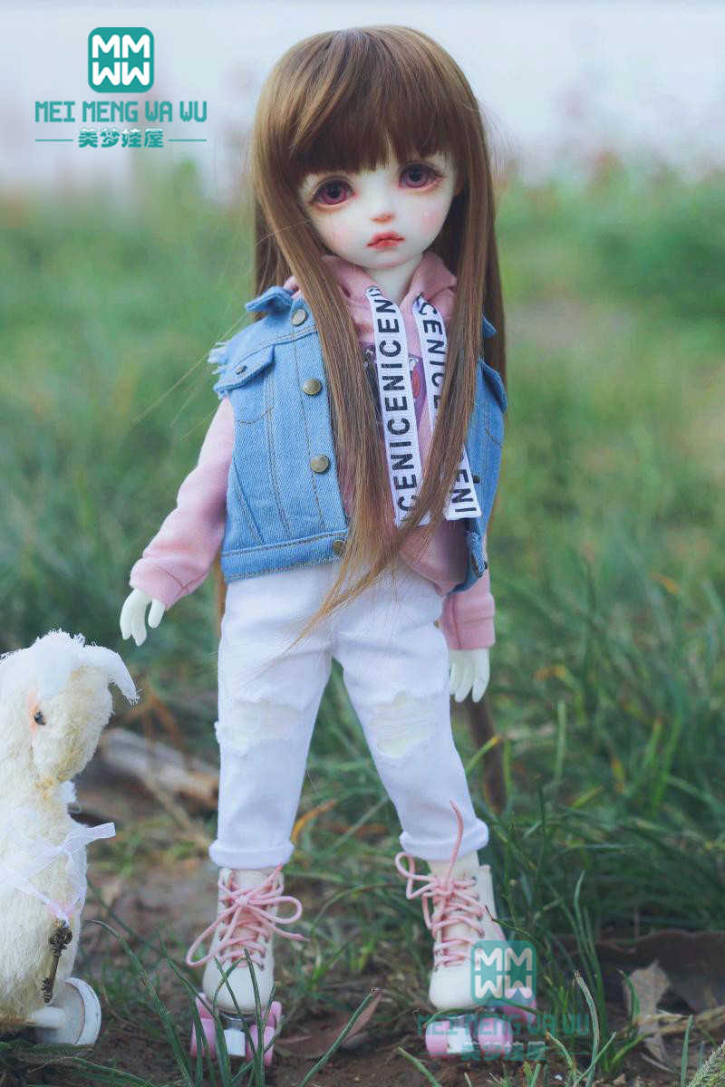 BDJ אביזרי סווטשירט, ג 'ינס, ג' ינס אפוד עבור 27 cm-30 cm 1/6 BJD בובת בגדים