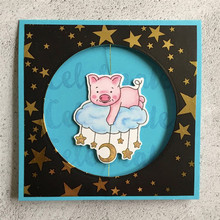 Eastshape Pig Dies Scrapbooking Clear Stamp and Die Sets Animal Metal Craft Cut for Card Making Cutting New 2019