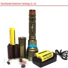 14000 Lumen 70W 7* XML T6 LED Diving Flashlight Torch 200M Underwater Waterproof LED Flash Light Lantern+ 26650 Battery+ Charger