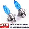 2 x H7 PX26D 12 V 6000 K 100 W Super White Car Auto HOD bombillas halógenas lámparas bombillas de los faros