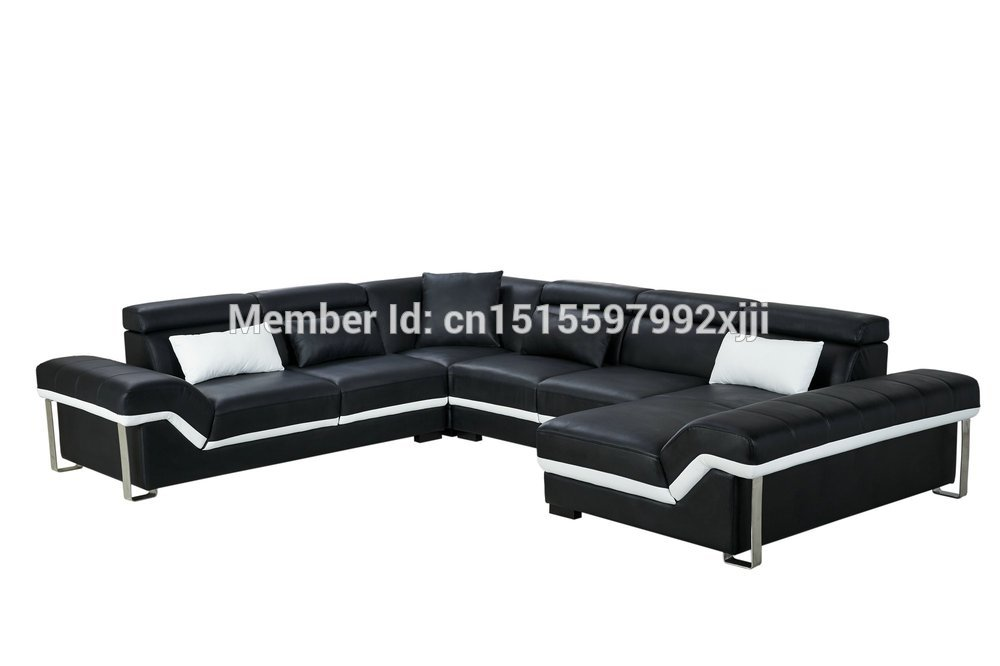 2016 Armchair Chaise European Style Bean Bag Chair Sofas For Living Room Muebles Modern Leather Sofa With Steel Leg Corner Real In From