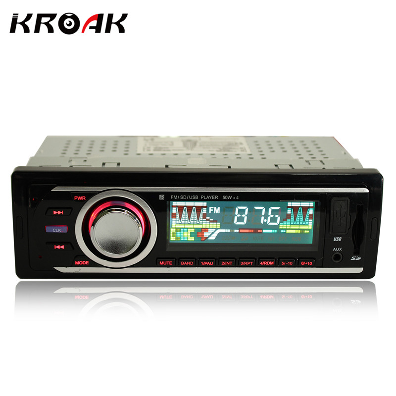 Car Radio 1 Din Stereo Audio MP3 Player 12V In-dash Single FM Receiver Aux Receiver USB SD Remote Control 12v car stereo fm radio mp3 audio player support fm usb sd dvd music cd player aux mic with remote control radio in dash 1 din