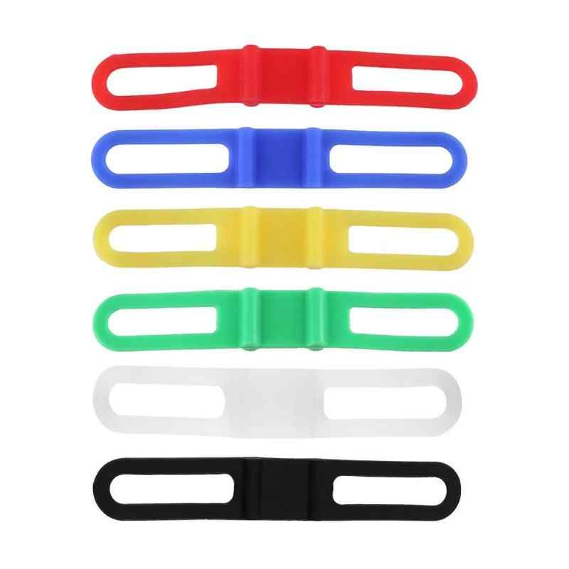 MTB Mountain Road Bike Silicon Strap Torch Phone Flashlight Bands Elastic Bandage Bicycle Light Mount Holder Bicycle Accessories