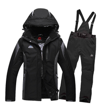 Free shipping skiing jacket+pants snow ski suit winter clothing Men and women couple models clothes Snow Thicken board clothes