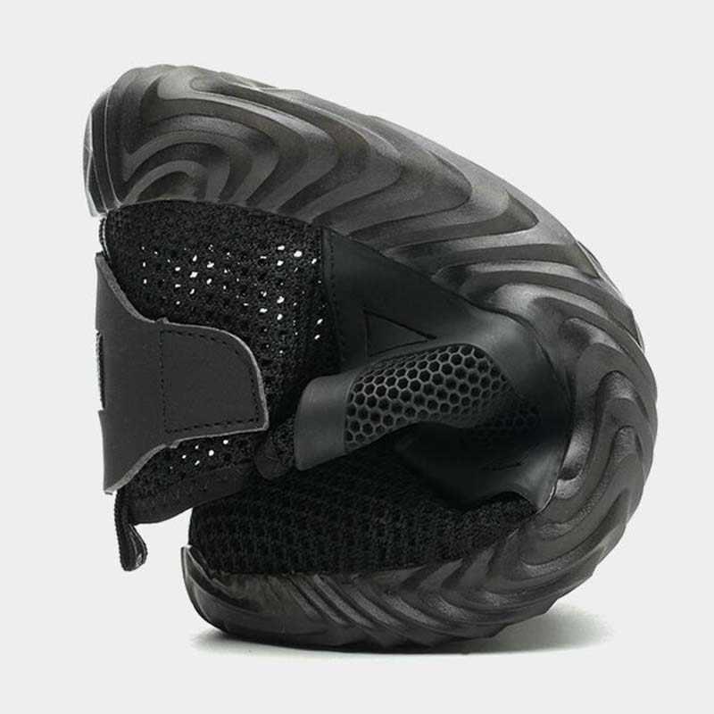 Zapatos de trabajo de protección de punta de acero ligeros y cómodos de malla transpirable al aire libre para hombres botas de seguridad de verano a prueba de perforaciones