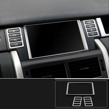 lsrtw2017 abs car dashboard navigation screen trims for land rover discovery sport 2014 2015 2016 2017 2018 2019