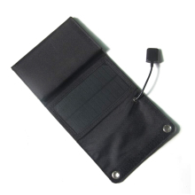 15W Solar Panel 5V USB Output Portable Foldable Power Bank Solar Charger for Smartphone
