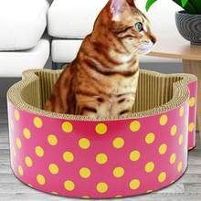 Cat House Corrugated Paper Ears Shaped Cat Scratch Board Scratcher Cardboard Cat Toys(China)