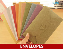 100pcs / lot , 250GSM Paper Colored Envelopes for Love Letter , Birthday Invitations
