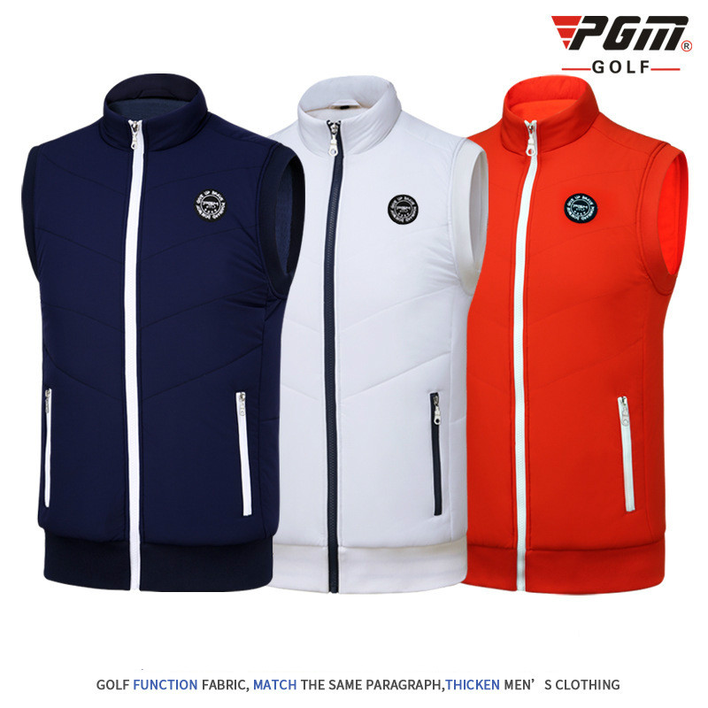 2018 PGM mens Golf t shirt golf vest cashmere warm sport vest for men Close skin soft match jersey size M-XXL