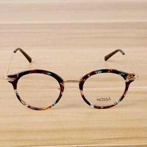 Image 1 - Montura de gafas de diseño Vintage para hombre y mujer, lentes transparentes, montura para gafas ópticas casuales, a la moda, unisex