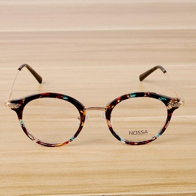 Montura de gafas de diseño Vintage para hombre y mujer, lentes transparentes, montura para gafas ópticas casuales, a la moda, unisex