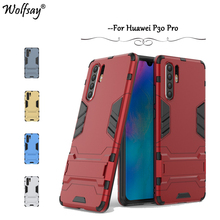 Huawei P30 Pro Case Wolfsay Slim Armor Robot Soft Rubber Hard PC Phone For Back Cover Fundas
