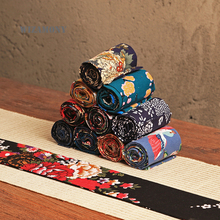 WIZAMONY Handmade tea mats Table Runner Retro National Style For Kung Fu Tea High-Quality Chinese Crafts Linen cotton Tea Mat