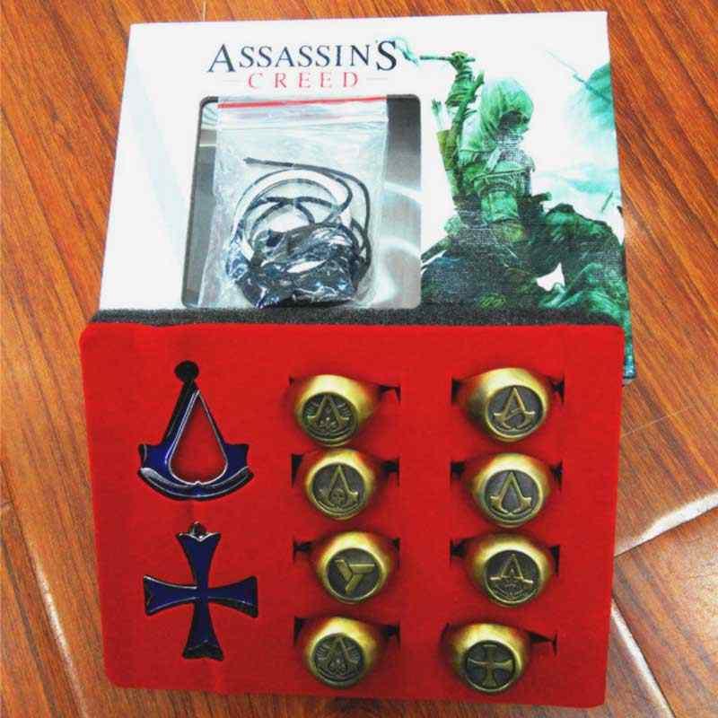 Фильм Мстители ожерелье брелок кольца ювелирные изделия Косплей assassins creed синдикат с красивой коробкой можно регулировать размер