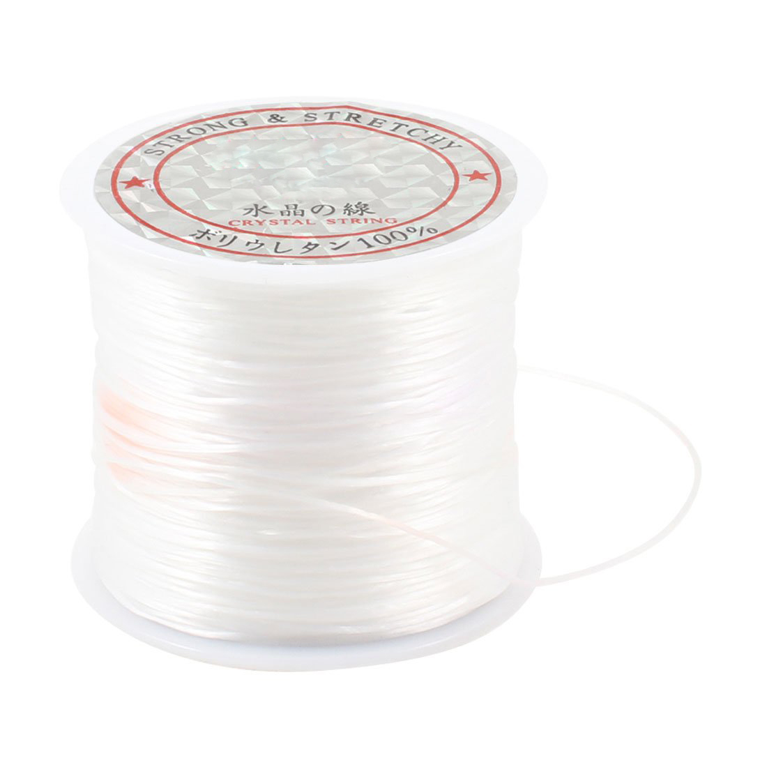 BMDT-White Elastic Stretchy Crystal Line Jewelry Beading Thread Spool 100 Meters