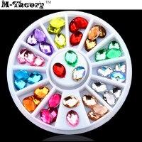 M-Theory Jelly Crystal Nails Rhinestones 3D DIY Nails Art Sequins Polish Nail Gel varnish Manicure Decorations Makeup Tools