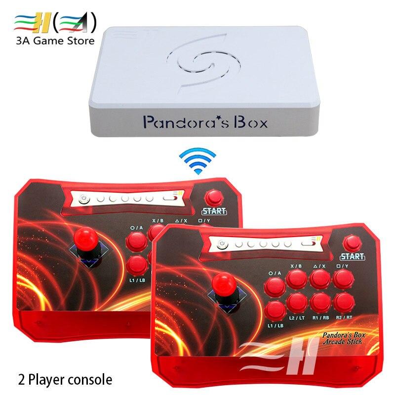 Boîte de pandore 6 1300 en 1 contrôleur d'arcade sans fil 2 joueurs couleurs noir/vert/rouge/bleu manette de Console Arcade USB HDMI VGA
